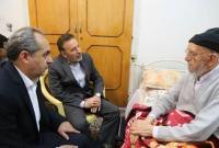 رئیس دفتر رئیس جمهور از آیتالله امینی عیادت کرد