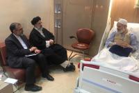 عیادت رؤسای مجلس خبرگان رهبری و قوه قضائیه از آیت الله حسینی بوشهری