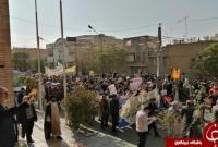 تصاویری از حضور مردم قم در راهپیمایی یوم الله ۱۳ آبان + تصاویر