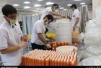 روزانه ۱۰۰۰ بطری آبمیوه توسط آستان کریمه اهلبیت(ع) بین بیماران توزیع میشود