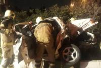 یک کشته و یک مجروح در واژگونی خودرو در آزادراه تهران قم