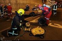 """مانور اطفاء حریق وامداد و نجات """"ساعت صفر"""" در قم + تصاویر"""