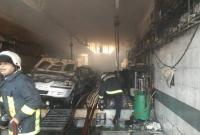 آتشسوزی در کارگاه تعمیر خودرو در قم