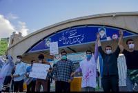 برگزاری تجمع دانشجویان مقابل سایت هستهای از قاب دوربین