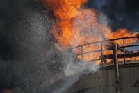 آتش سوزی مهیب در شهرک صنعتی شکوهیه قم
