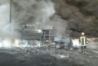 عکس/ خودروی سوخته آتشنشانی قم