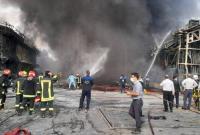 اعزام ۲۰ خودرو و بیش از ۱۰۰ آتش نشان از قم به شهرک صنعتی نا ایمن